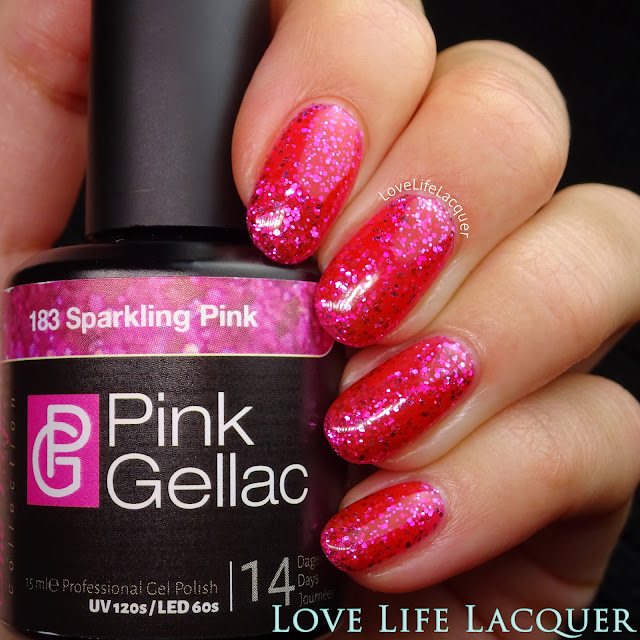 Pink Gellac VIP collection swatches Sparkling Pink