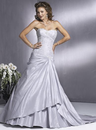 A Wedding Addict Romantic Light Purple Innocence Bridal Gown