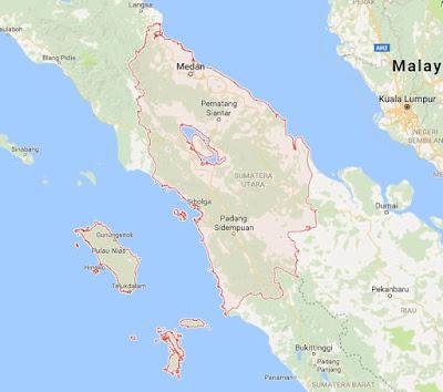 Peta Wilayah Provinsi Sumatera Utara