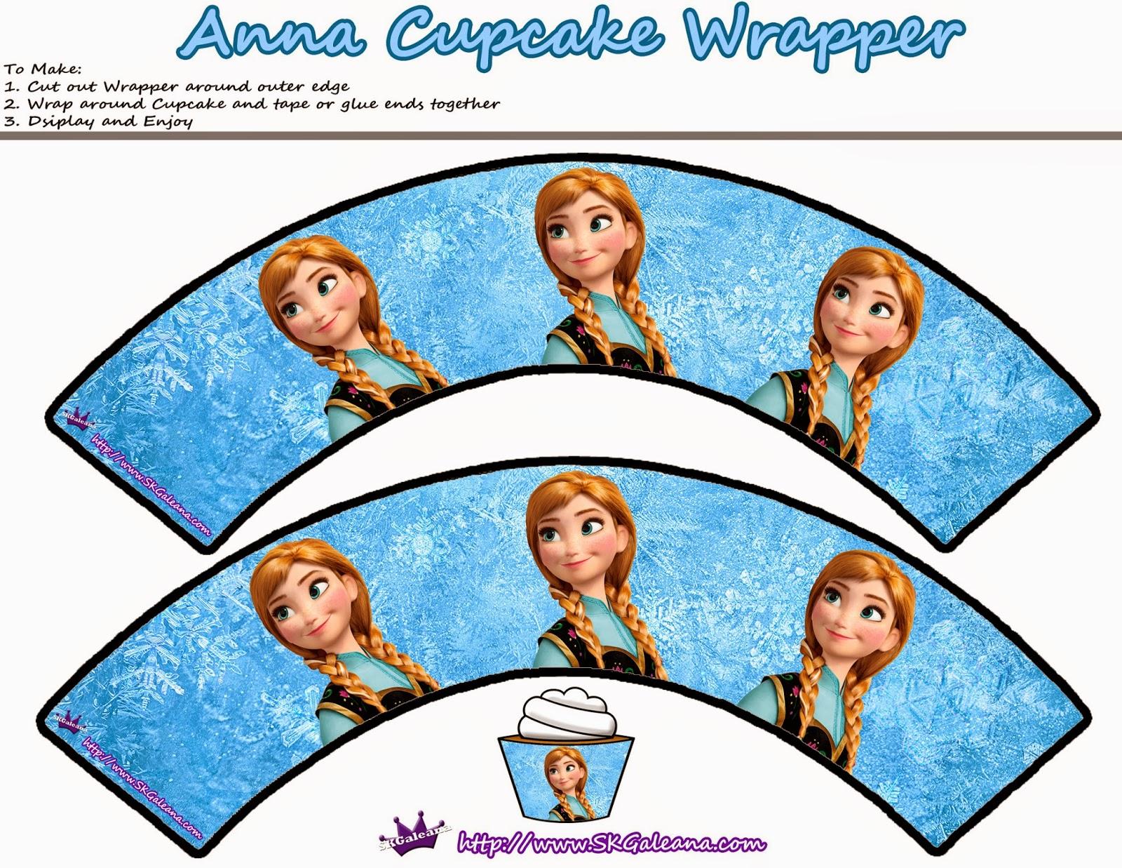 Wrappers de Anna para Cupcakes.