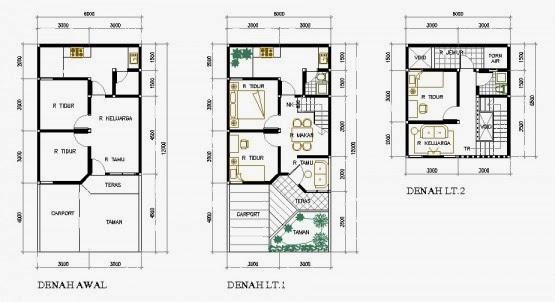 10 Gambar Denah Rumah Minimalis Type 36 Idaman Tertera Diatas