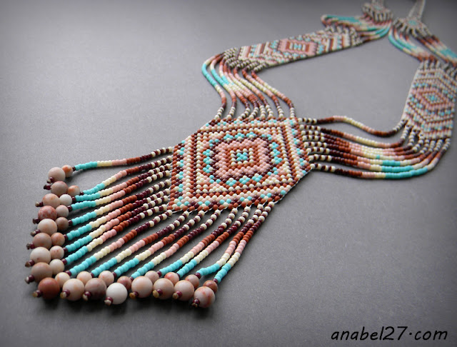 split loom necklace beadwork beadweaving gerdan