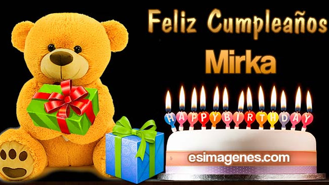 Feliz Cumpleaños Mirka