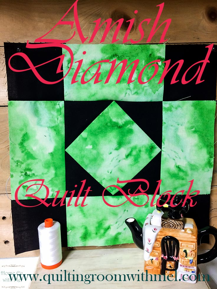 amish diamond quilt block pinterest