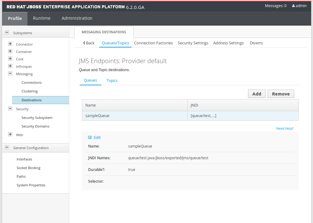 WSO2 ESB: Consume JMS Messages From HornetQ Embedded JBOSS EAP