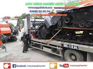 Xuất bán tiếp máy gặt liên hợp Kubota DC 70 đi Thanh Hóa cho khách hàng