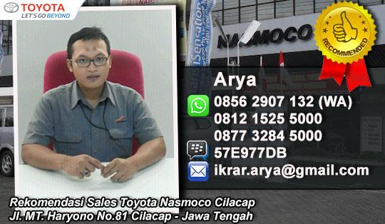 Harga Agya, Avanza, Innova CIlacap, 2016 Rekomendasi Sales Mobil Toyota Nasmoco Cilacap
