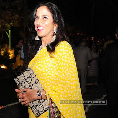 Shobha De in Kunal Kapoor & Naina Bachchan Wedding Reception