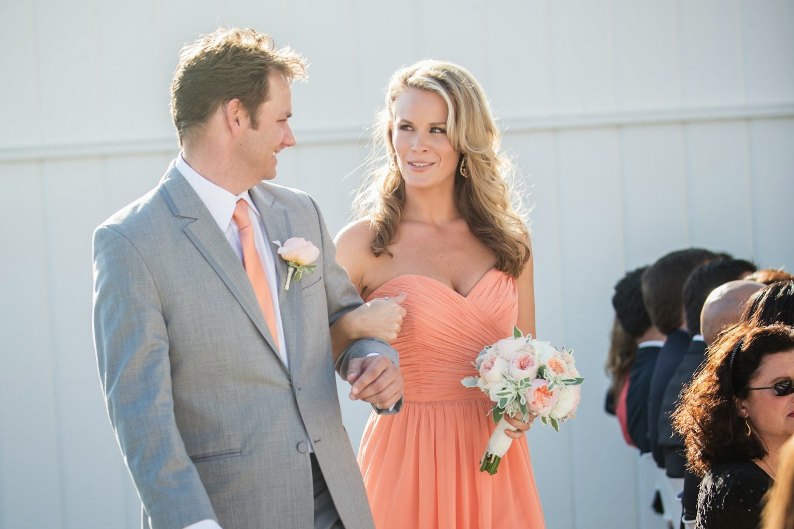 Peach And Grey Wedding Colors