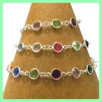 Family Birthstone Link Bracelet