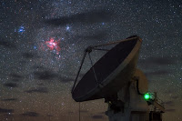 Carina Nebula above ALMA Telescope