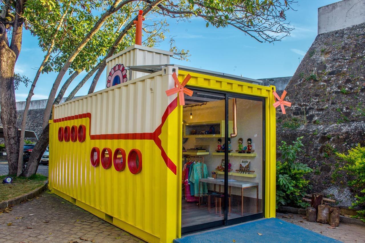 cf741fd449d Brinquedoteca em container inspirada nos Beatles é destaque na CASACOR  Bahia 2018