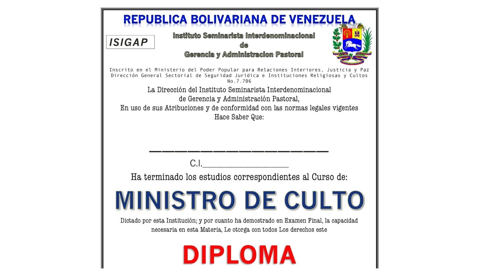 Registro de iglesias for Direccion de ministerio de interior y justicia