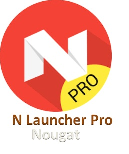 Tema / Tampilan Android Nougat 7.0 - N Launcher Pro v1.5.1 Apk
