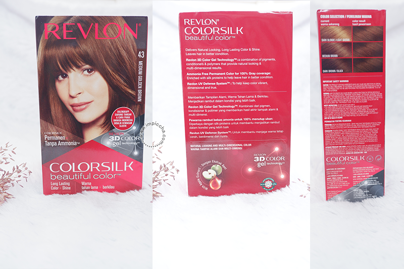 Packaging - Revlon ColorSlik Medium Golden Brown 43