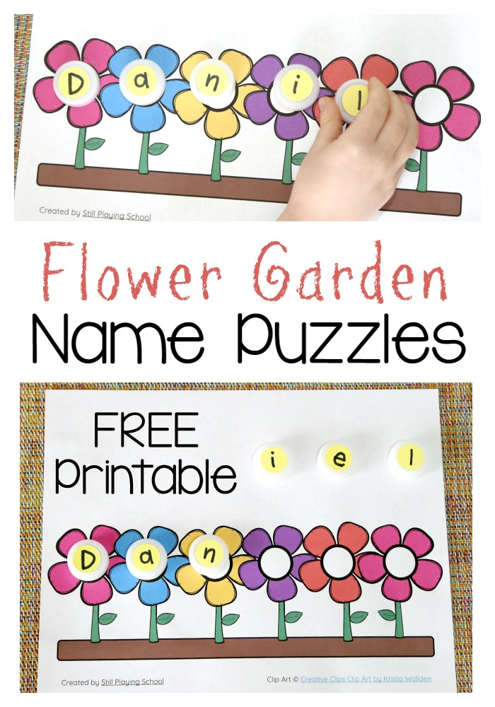 flower name puzzle  still playing school, Beautiful flower