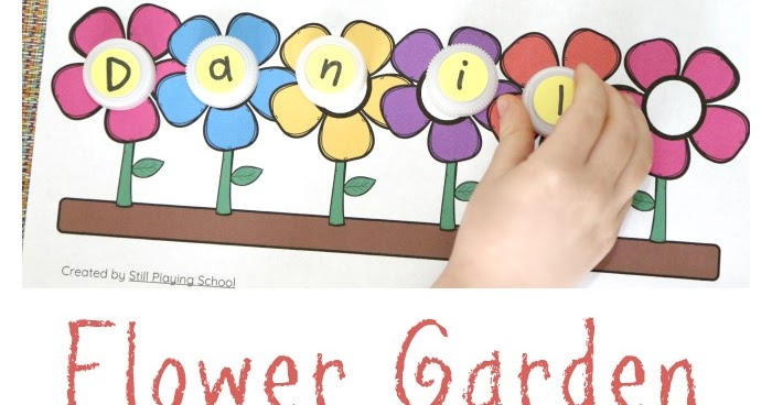 Flower Name Puzzle Still Playing School
