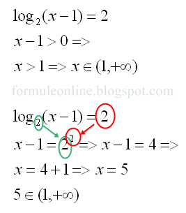 logarithmic equation examples and solutions