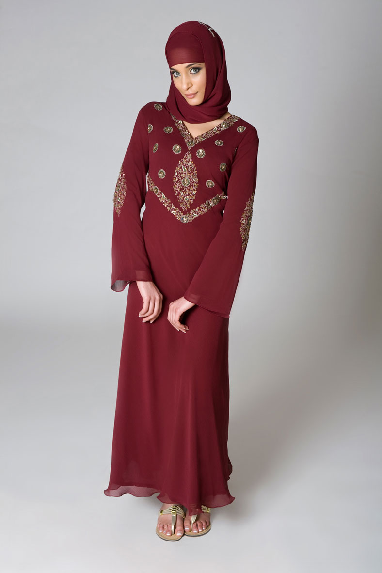 Latest Women Best Winter Dresses Designs Collection 2014 2015: Latest Abaya Designs