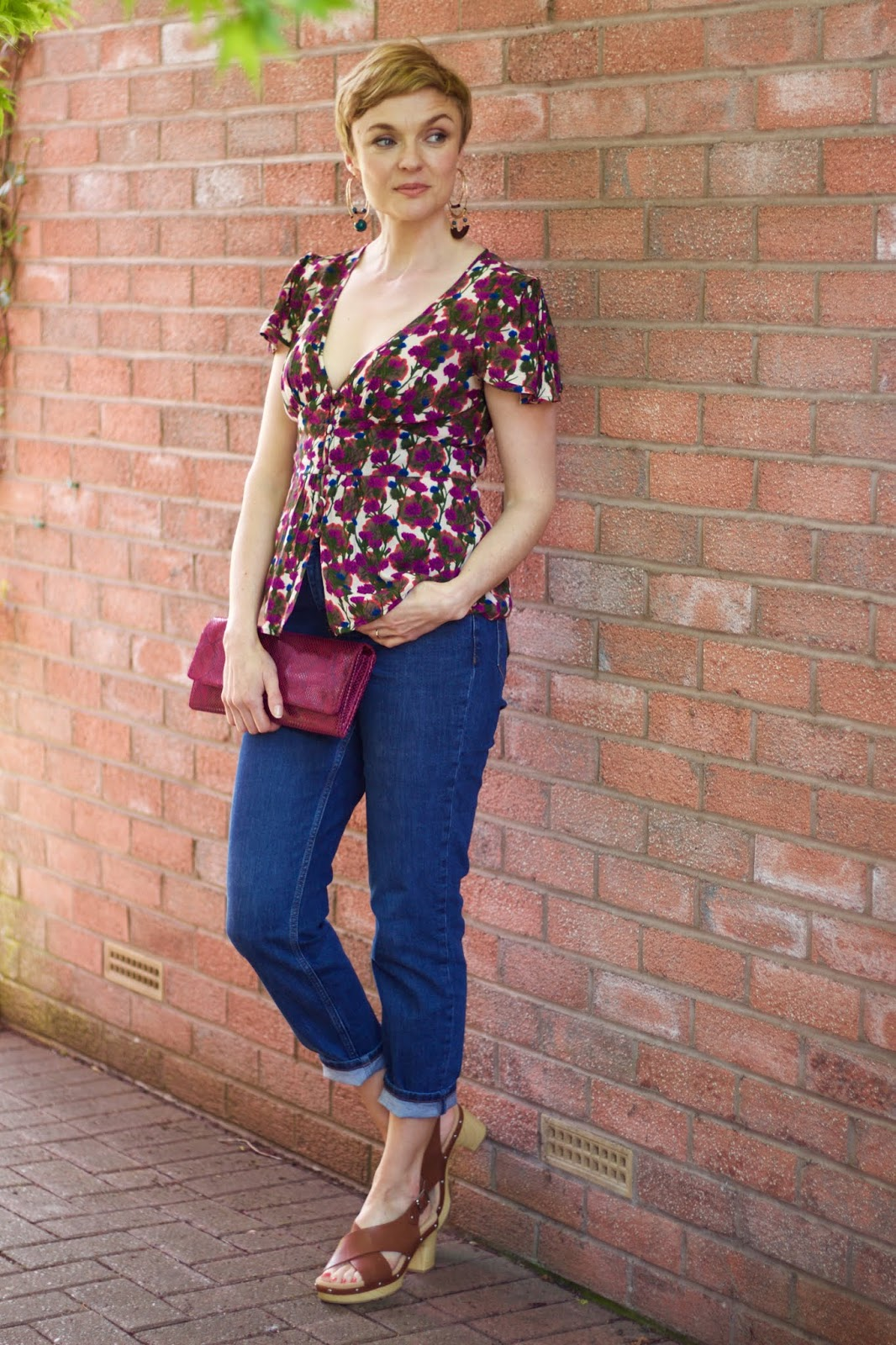 Topshop Tea Blouse and Orson jeans, over 40 | Fake Fabulous