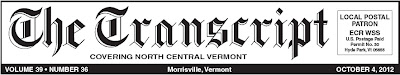 The Transcript - Serving the People of Lamoille County with News Since 1881