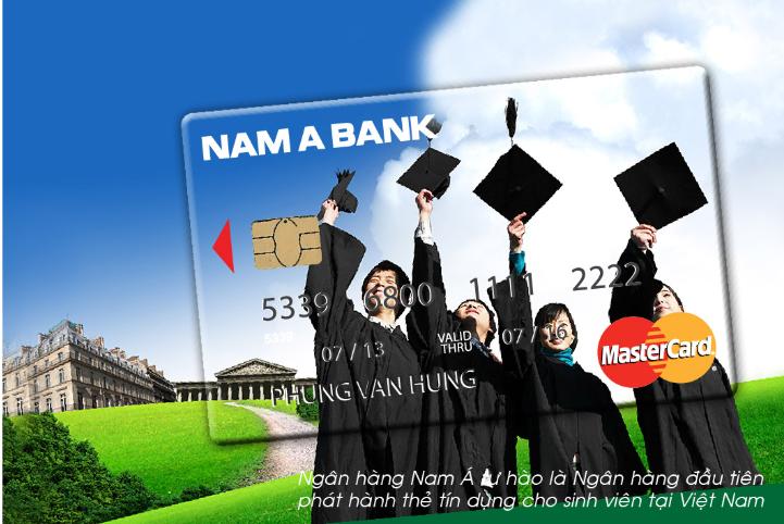 Thẻ tín dụng cho sinh viên - Dream Card - Nam Á Bank