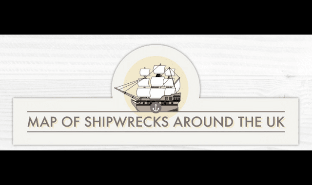 Map of Shipwrecks Around the UK