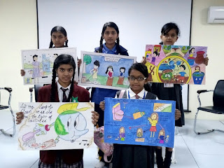 Vardhaman Infotech Interschool poster competition