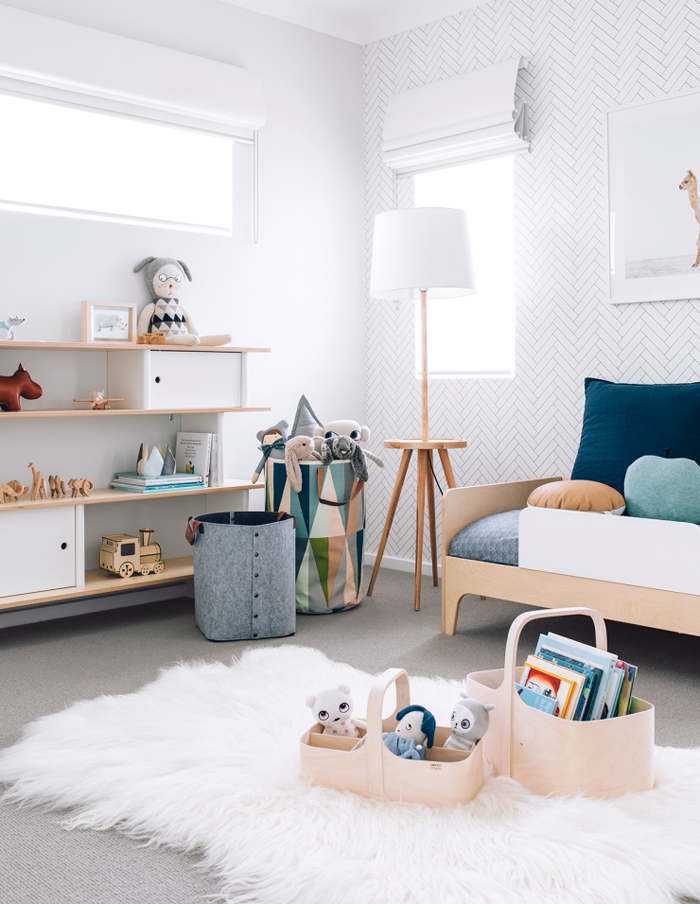 Contemporary toddler bedroom