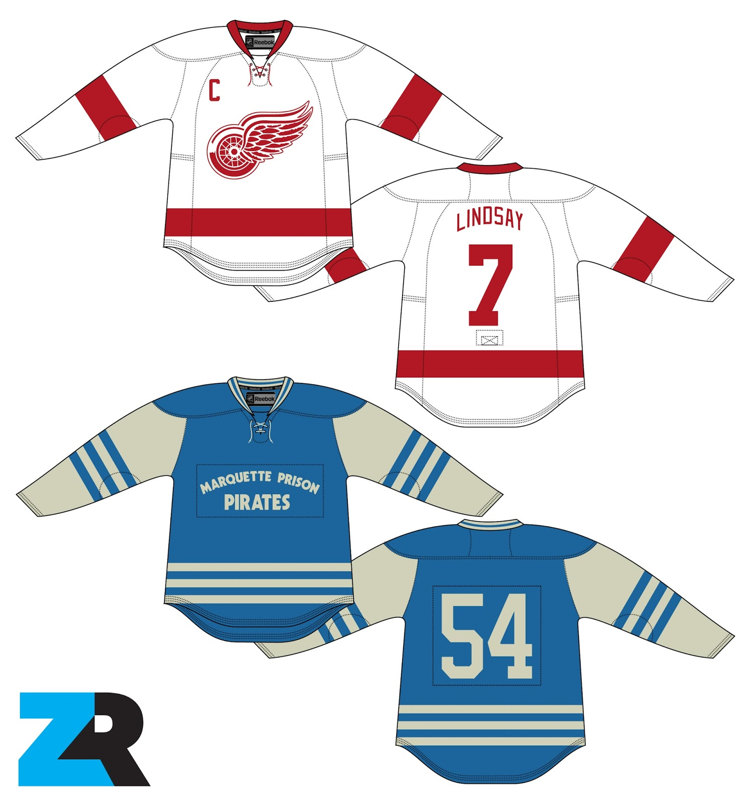 79cf8f182c9 I had to do my research in order to properly review this concept. On  February 2, 1954, the Detroit Red Wings played a game against inmates from  Marquette ...