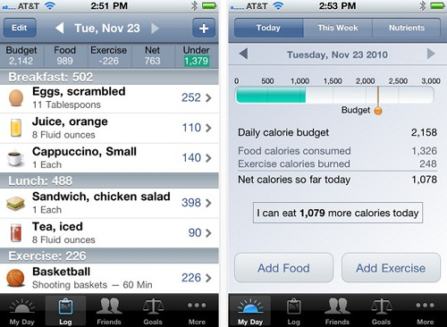 Lose IT iPhone Health and Fitness App