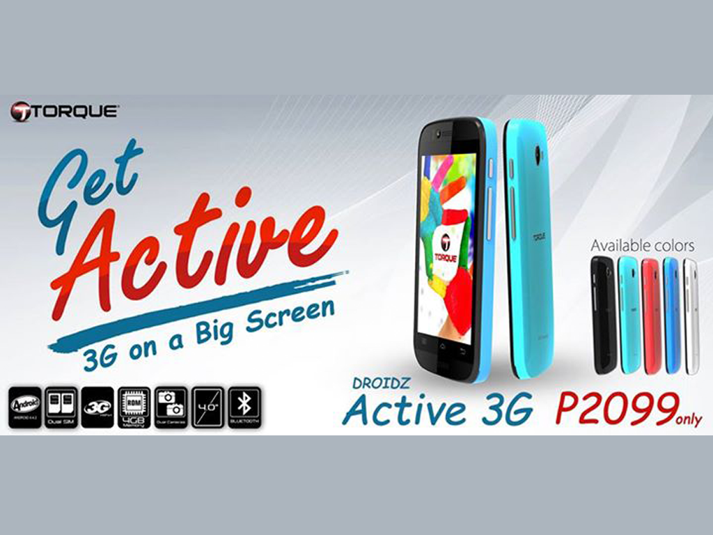 Torque Droidz Active 3G Announced: 4-inch WVGA, 3GB, Priced At Php 2,099!