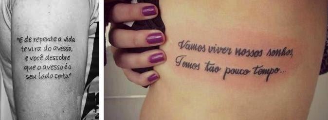 Tatuagem Frases Charlie Brown