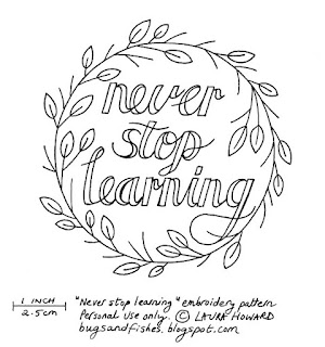 Never Stop Learning: Free Embroidery Pattern