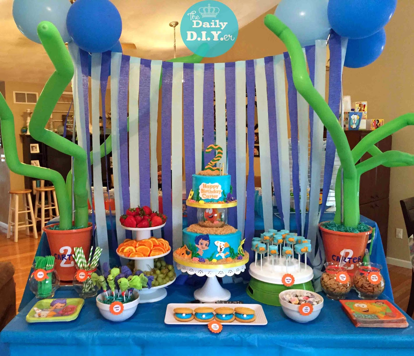 the daily diyer bubble guppies party food