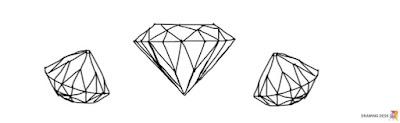 Ilustracja - diamenty.