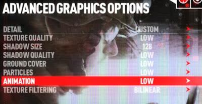 como reduzir a qualidade grafica