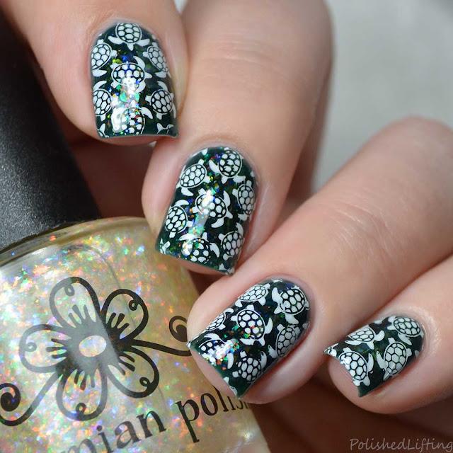 sea turtle nail art