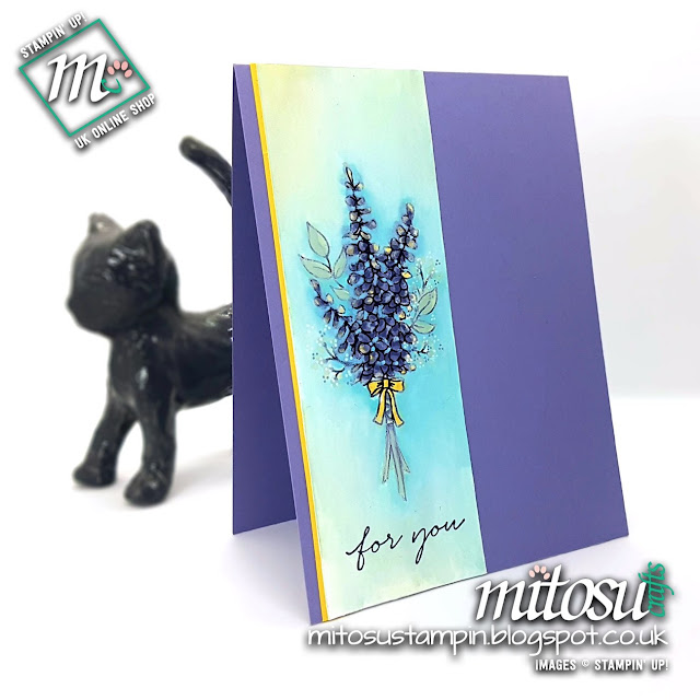 Stampin' Up! Lots of Lavender SU Card Idea order cardmaking supplies from Mitosu Crafts UK Online Shop