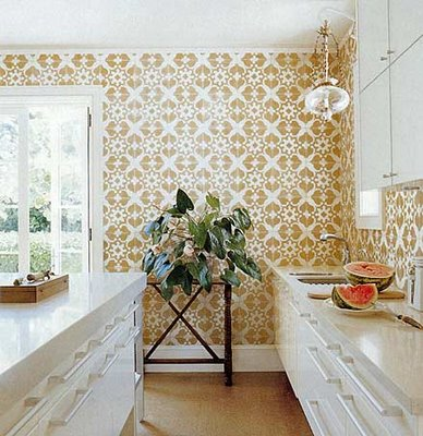 loft & cottage: how about dressing up your kitchen walls?