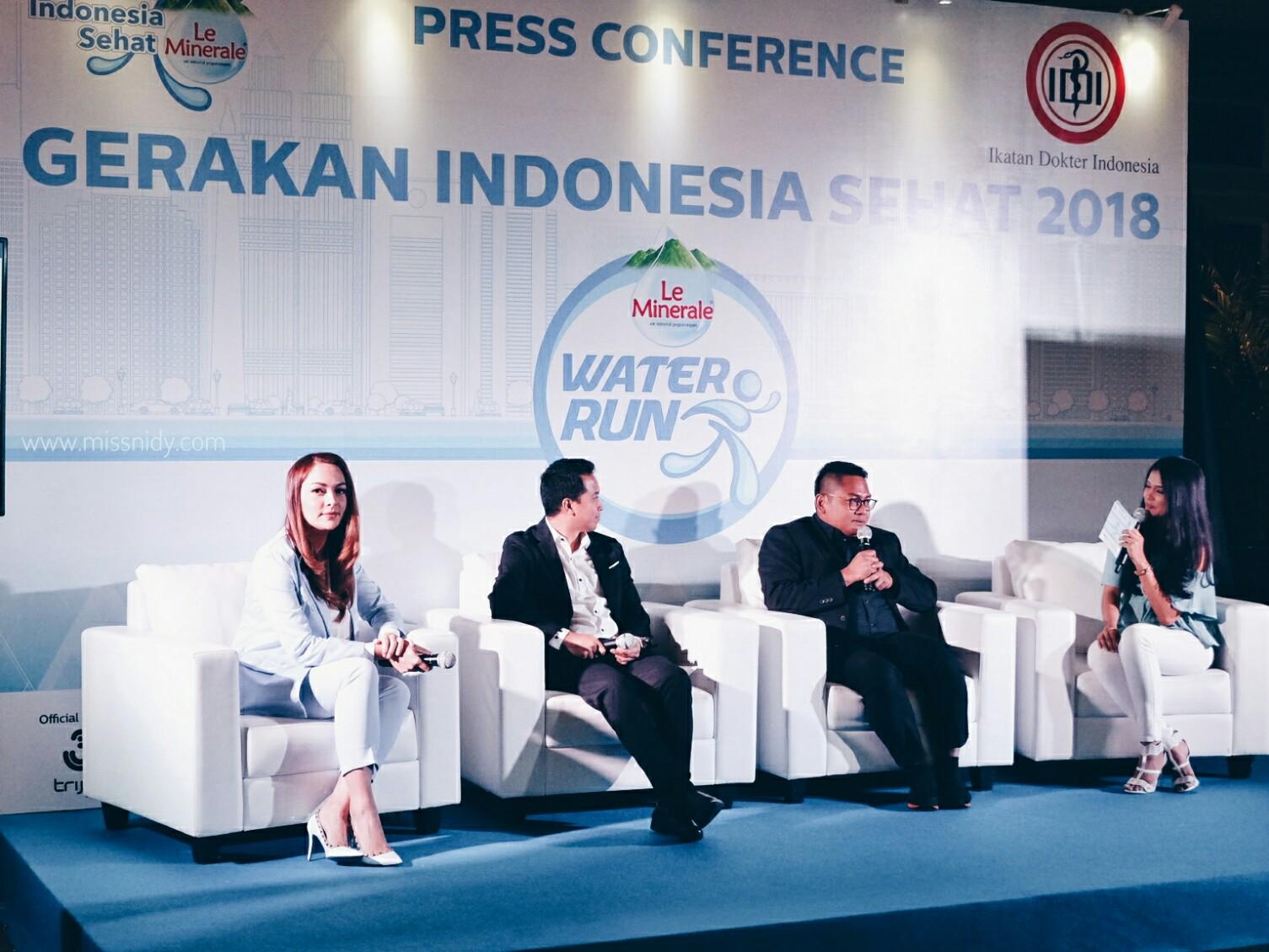 press conference gerakan indonesia sehat bersama le minerale