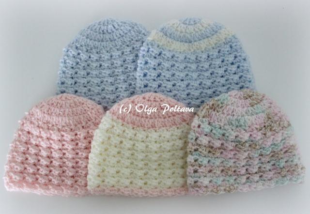 Lacy Crochet Preemie Baby Crochet Hats