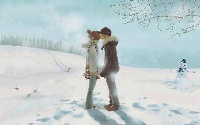 winter-love-kiss-snowman-wallpaper-1920x1200