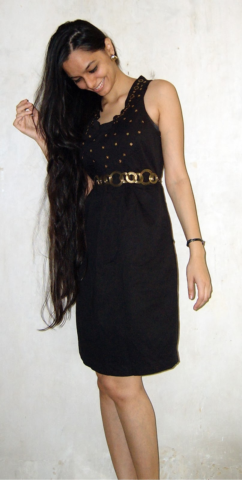 LBD, Little black dress, gold accents, black and gold dress, party outfit