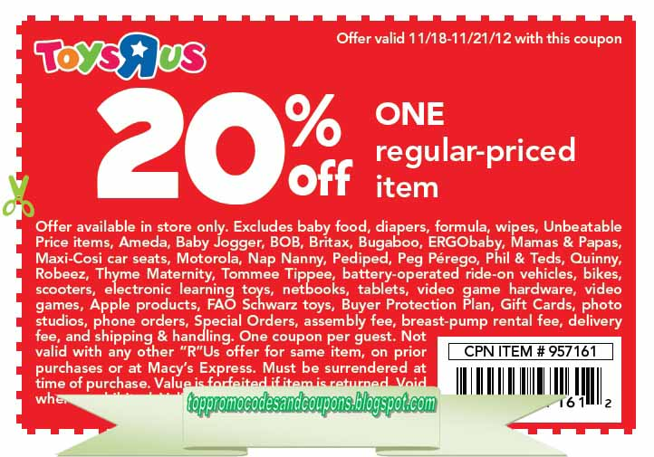 free promo codes and coupons 2018 toys r us coupons