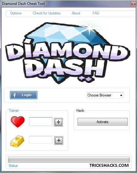 DIAMOND DASH HACK CHEATS TOOL 2013