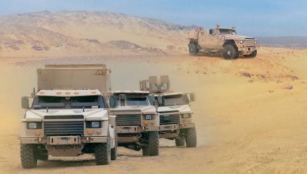 Колонная военных транспортных средств