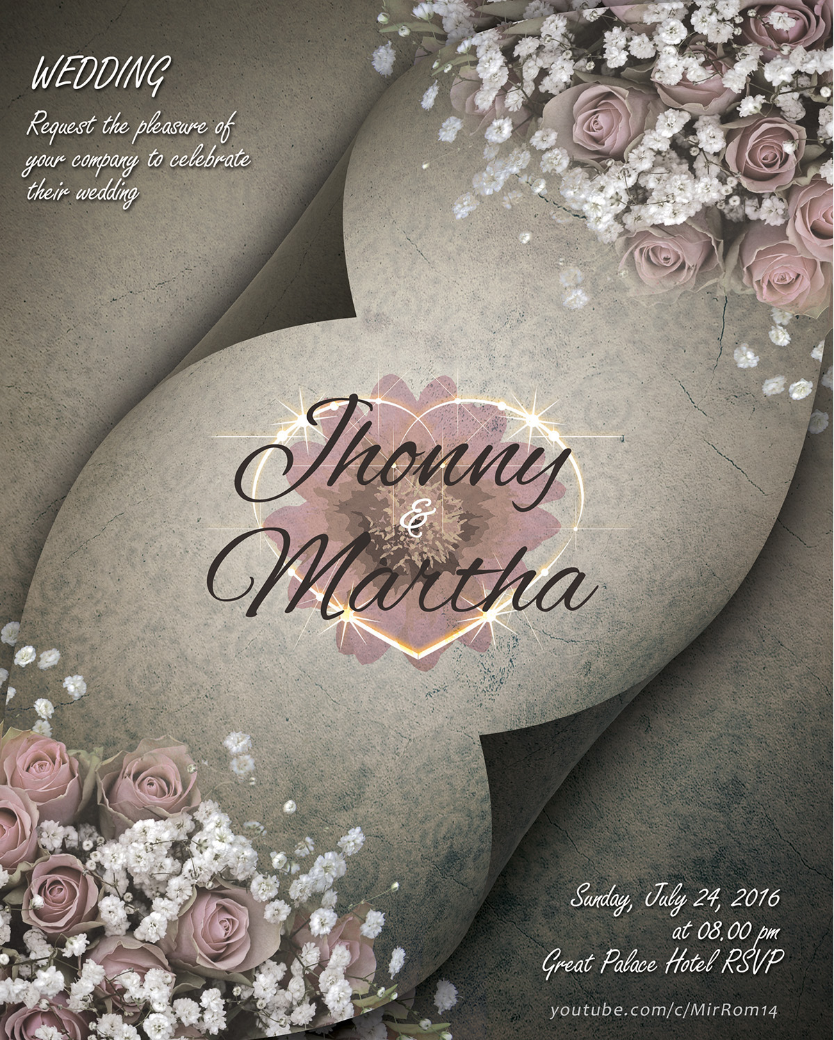 Make a Beautiful Wedding Invitations In Photoshop