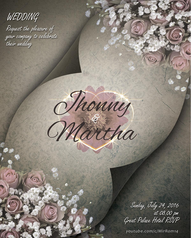 Make a Beautiful Wedding Invitations In Photoshop