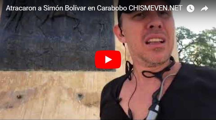 Se robaron partes de la estatua de Bolívar en la plaza de Carabobo frente a la policía